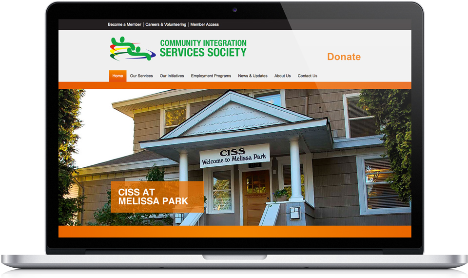 Community Integration Services Society home page